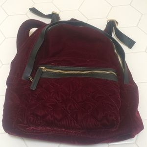 Topshop Velvet Backpack